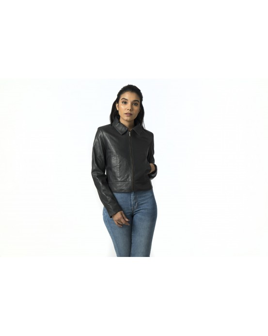 LG 11 Ladies Black Real Leather Jacket