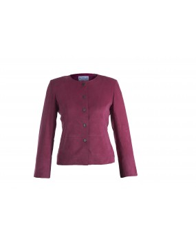 LG 2 Ladies Fushia Suede Real Leather Jacket