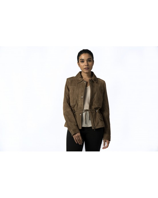 LG 4 Ladies Brown Suede Real Leather Jacket
