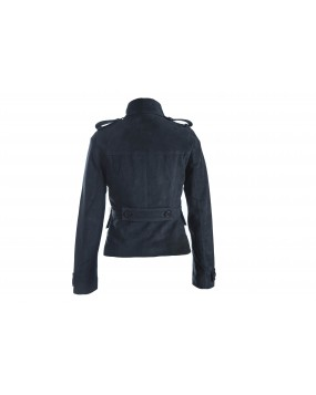 LG 5 Ladies Navy Real Leather Suede Jacket