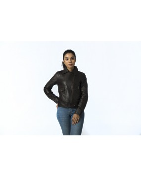 LG 9 Ladies Brown Real Leather Jacket