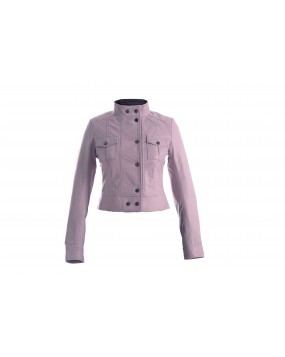 LG 1 Ladies Light Pink Real Leather Jacket